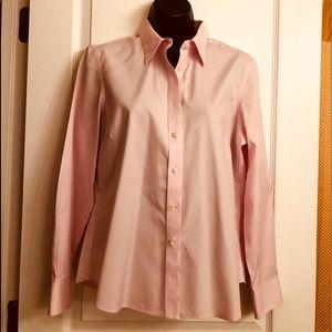 NWOT Lands' End Pink Button Down Shirt